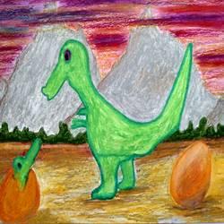 Dino world size - 8.3x11.7In - 8.3x11.7