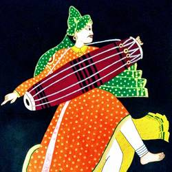 Folk dancer Part 2 size - 12x18In - 12x18