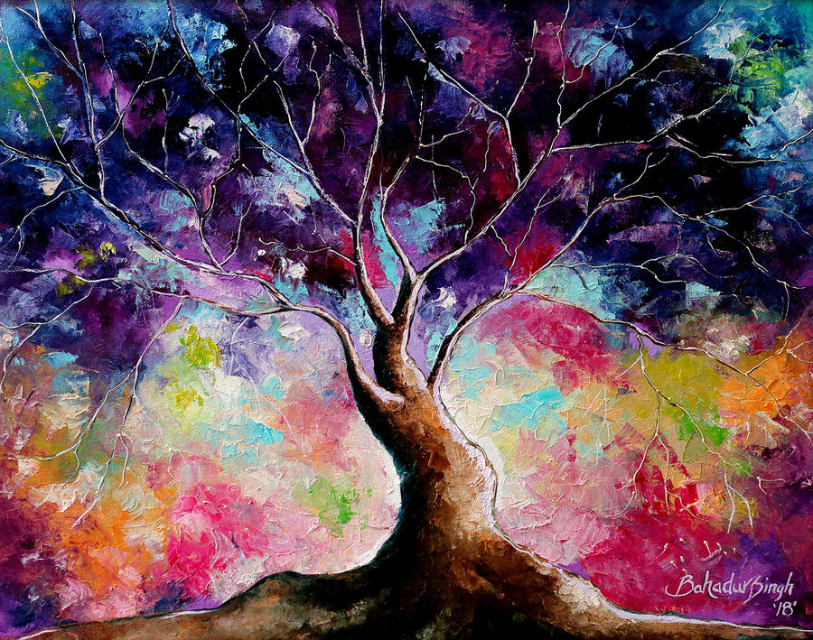 tree of life vii, 22 x 20 inch, bahadur singh,abstract paintings,figurative paintings,modern art paintings,nature paintings,art deco paintings,paintings for dining room,paintings for living room,paintings for bedroom,paintings for office,paintings for bathroom,paintings for kids room,paintings for hotel,paintings for kitchen,paintings for school,paintings for hospital,canvas,oil,22x20inch,GAL0635120407Nature,environment,Beauty,scenery,greenery,tree of life vii size - 22x20in,ADR9635120407