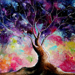 Tree of Life VII size - 22x20In - 22x20