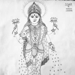 Goddess Lakshmiji size - 11x13In - 11x13