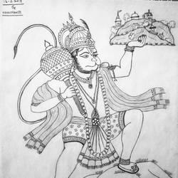 Hanumanji size - 11x13In - 11x13