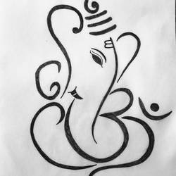 Lord Ganesha size - 9x10In - 9x10
