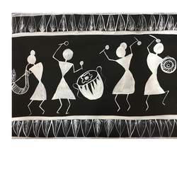 Warli Painting size - 20x18In - 20x18
