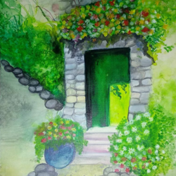 Watercolour painting  size - 16x12In - 16x12