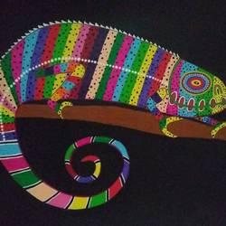 Rainbow Chameleon size - 18x12In - 18x12