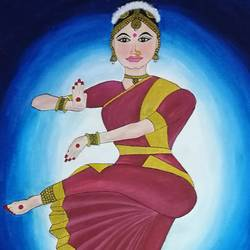 Indian Classical Dance. size - 18x24In - 18x24