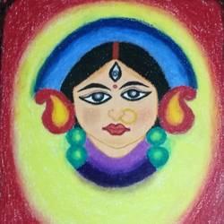 Goddess Durga size - 16x20In - 16x20