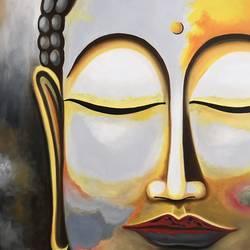Buddha !! Rustic Style size - 22.6x24.1In - 22.6x24.1