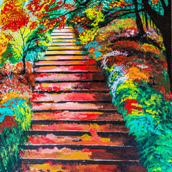 The staircase size - 18x24In - 18x24
