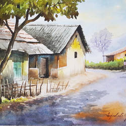 Watercolor Landscape Paintings size - 15x11In - 15x11