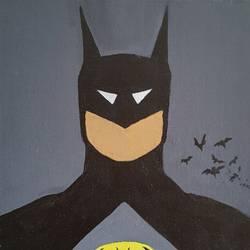 Batman popart size - 12x16In - 12x16