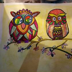 The Owls way size - 12x16In - 12x16