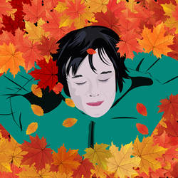 An autumn themed art size - 23.62x15.75In - 23.62x15.75