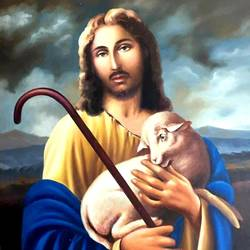 Jesus Christ the Good Shepherd size - 25x36In - 25x36