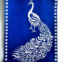 White Peacock size - 12x18In - 12x18