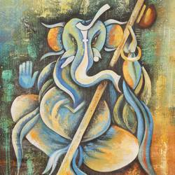 musical ganesha size - 24x48In - 24x48