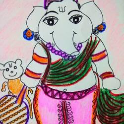 ganapati bappa morya  size - 15x15In - 15x15