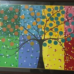 Abstract painting Tree size - 40x30In - 40x30