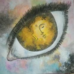 Through my eyes size - 12x12In - 12x12