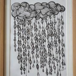 Doodle artwork for wall decoration size - 10x14In - 10x14