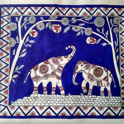 Kalamkari painting size - 12x10In - 12x10