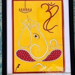 Ganpati Buppa Mourya size - 17x21In - 17x21