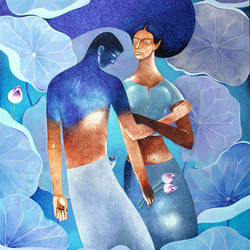 LOVERS IN LOVE size - 36x44In - 36x44