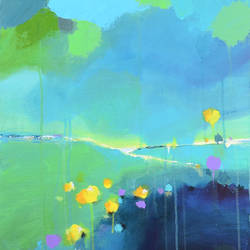"""Valley of flowers, 20""""x30"""" size - 20x30In - 20x30"""