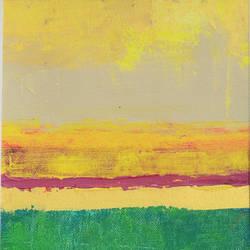 "Golden horizon-II, 7""x10"" size - 7x10In - 7x10"
