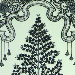 TREE PAINTED ON SILK PATACHITRA  size - 21.25x11.41In - 21.25x11.41