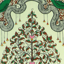 HYPOTHETICAL PAINTING OF A TREE  ON SILK size - 21.25x11.41In - 21.25x11.41