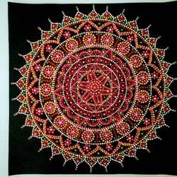 Circular Mandala Art size - 15x15In - 15x15