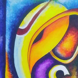 abstract ganesha size - 18x24In - 18x24