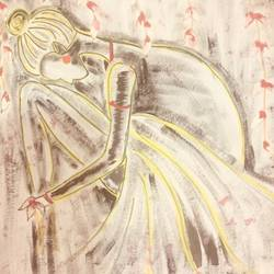 Bride in pain  size - 13x9In - 13x9