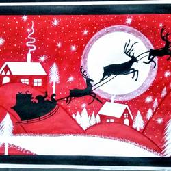 Santa Clause is coming to town size - 22x15In - 22x15