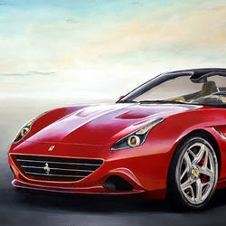 Ferrari California size - 36x24In - 36x24