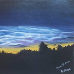 Silhouette Sky size - 12x18In - 12x18