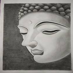 Budha size - 12x16In - 12x16