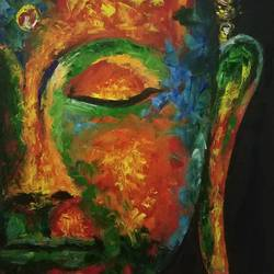 Buddha Painting size - 16x23In - 16x23