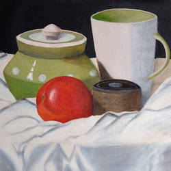 Still life with tomato size - 20.5x13In - 20.5x13