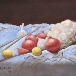 Still life in the kitchen size - 17x12In - 17x12