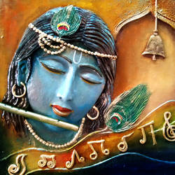 Krishna Mural size - 19x17In - 19x17