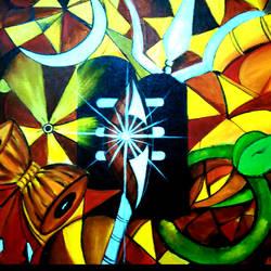 Shiva Contemporary size - 48x36In - 48x36