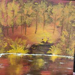 Forest glow size - 20x16In - 20x16