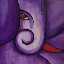 Ganpati purple size - 10x12In - 10x12