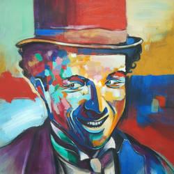 Charlie Chaplin size - 20x20In - 20x20