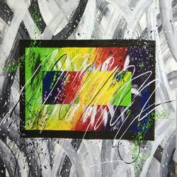 Abstract0030 size - 32x22In - 32x22
