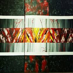 Abstract0031 size - 60x30In - 60x30