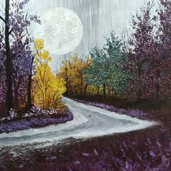 Moonlight evening size - 18x24In - 18x24